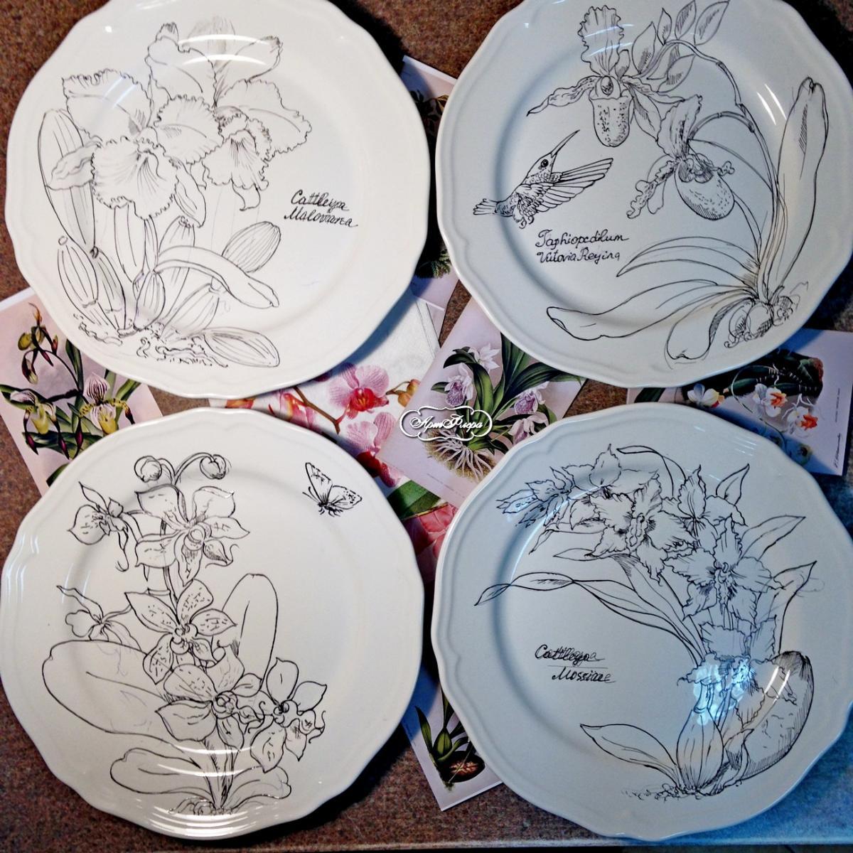 Рисунки на фарфоре своими руками