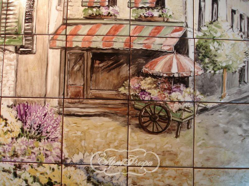 Для кухни цветочный рынок в провансе