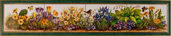 панно Весенние цветы, 20х120 см.