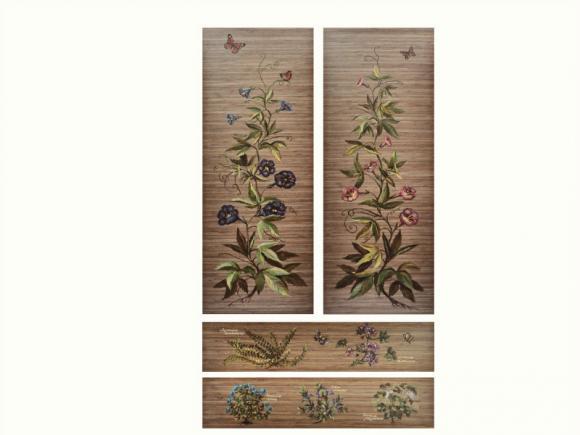 1. Роспись шкафа Альпийские травы