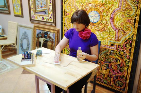 Расписываем керамическую плитку своими руками