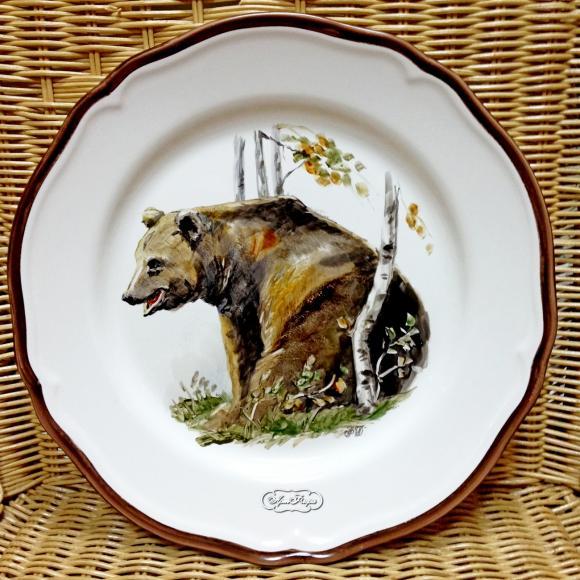 """Тарелка """"Медведь"""" , 28 см, цена 4200 рублей"""