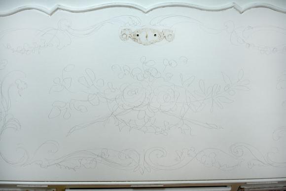 декоративная роспись бюро