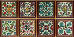 роспись плитки восточным орнаментом