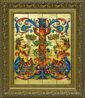 роспись по керамической плитке