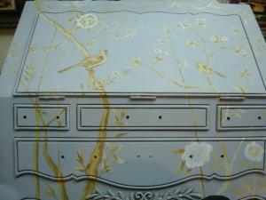 роспись мебели, роспись комода