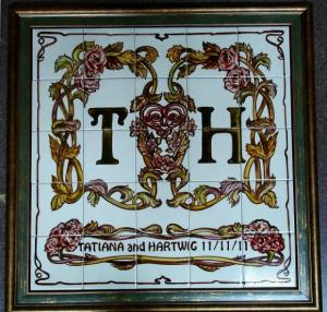 подарок роспись плитки